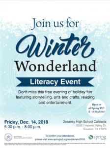 Winter Wonderland Literacy Event