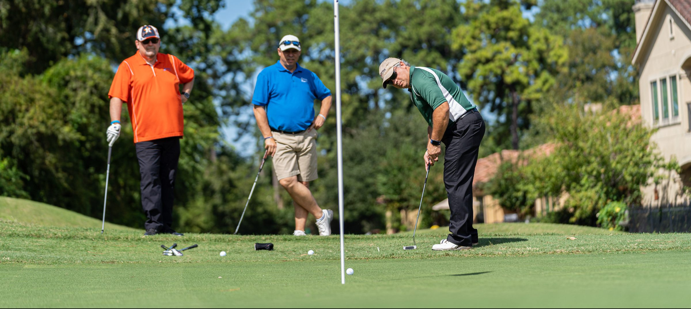 golfers at the Spring ISD Education Foundation's 'Tee Up for Education' charity golf tournament