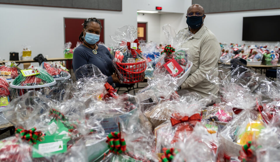 Spring ISD Family Literacy Care Baskets Bring Books, and More, Home for the Holidays